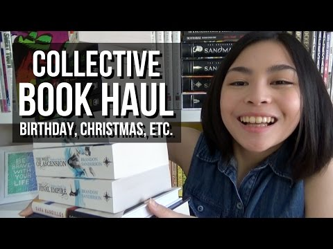 Collective Book Haul // Birthday, Christmas, and Everything in Between