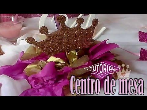 Centro de mesa de corona de princesas | Princess Centerpiece