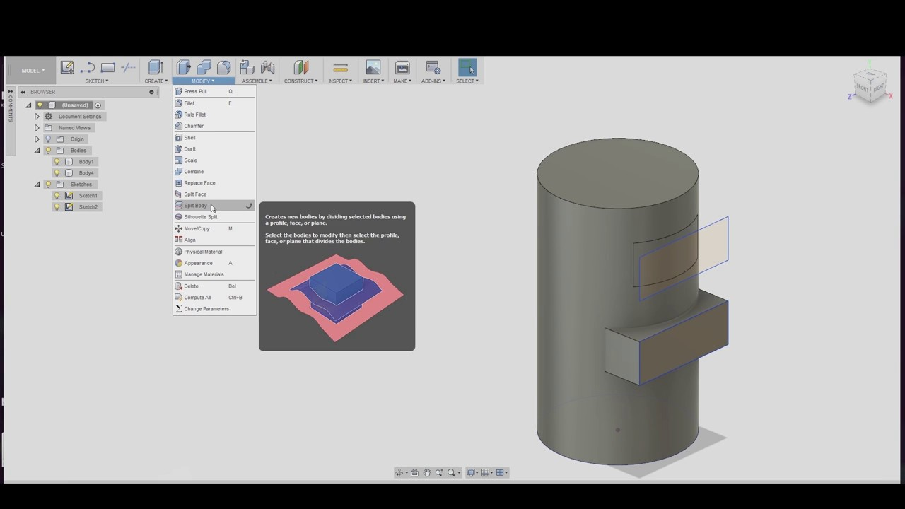 How to Sketch on a Cylinder or rounded Surface in Fusion 360 EASY!!