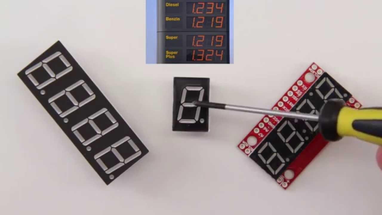 Sieben segment displays verschiedene anzeigen für arduino