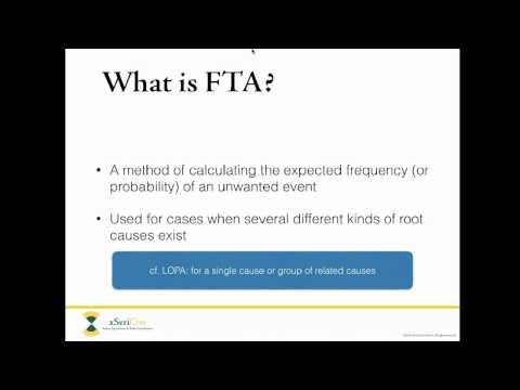 Fault Tree Analysis FTA Webinar By XSeriCon