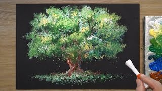 How to Paint a Tree in Acrylic #323