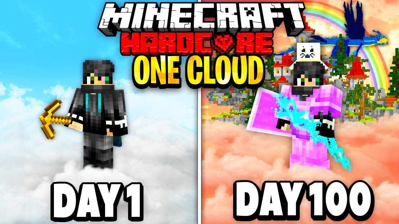 I Survived 100 Days on One Cloud in Minecraft.. Here's What Happened..