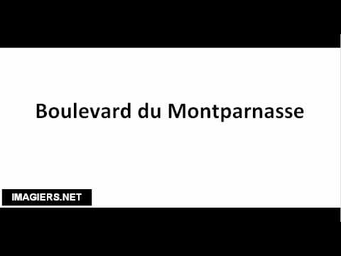 How to pronounce Boulevard du Montparnasse
