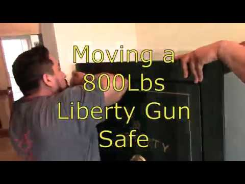 Moving A 800Lbs Liberty Gun Safe Downstairs | Fast Mode