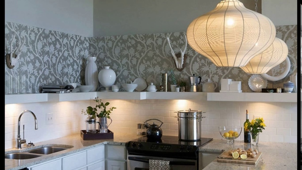 Modern kitchen wallpaper designs