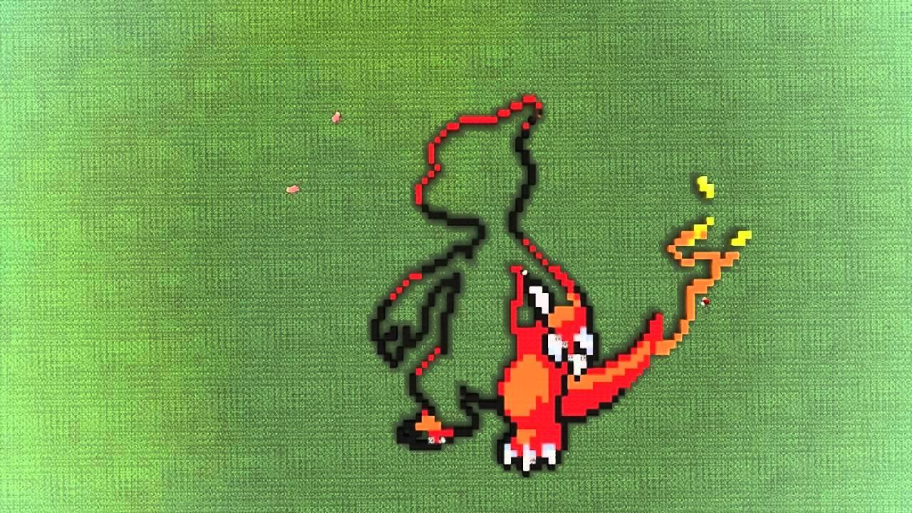 Reptincel Pixel Art En Time Laps Avec Les 3glandsdansminecraft