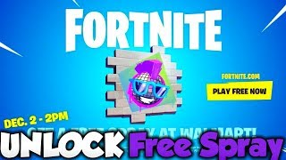 How To UNLOCK Walmart Boogie Spray for FREE! Fortnite FREE Spray!