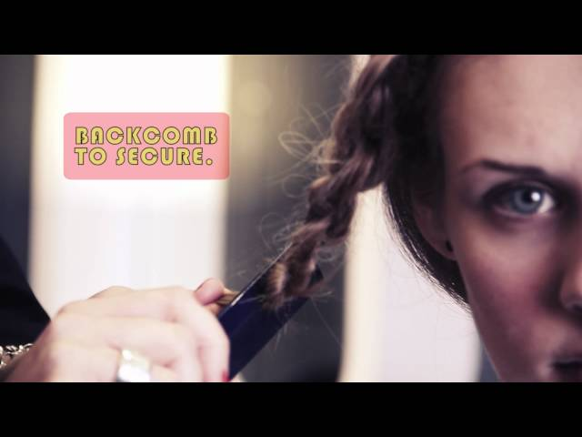 Chignon using knots and plaits/braids tutorial