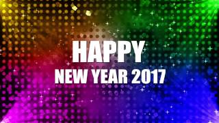 happy new year greetings 2017 new year wishes motion background