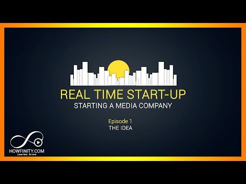 How to start a media company Vlog - Episode 1 - The Idea - Real Time Start-up