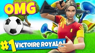 TOP 1 avec le NOUVEAU SKIN de FOOT sur FORTNITE Battle Royale