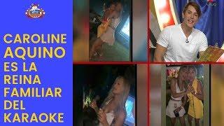 Caroline Aquino es la reina familiar del Karaoke