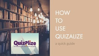 Quizalize Tutorial