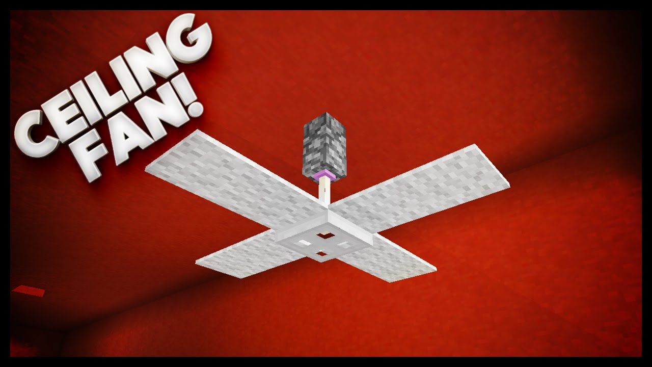Minecraft - How To Make A Ceiling Fan - YouTube