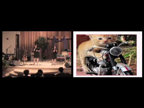 Crystal & Candice Sipe singing Cat Duet with Paula Dahl on Piano.
