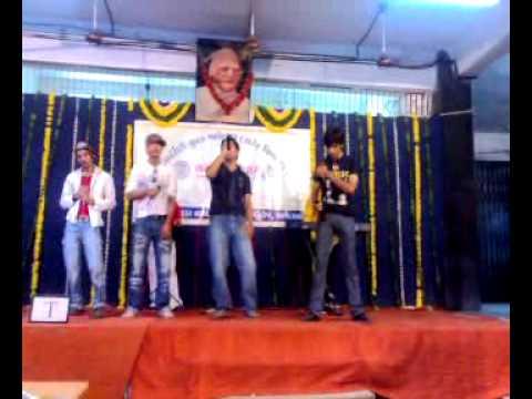 Singing in Gujarat University - Western Group