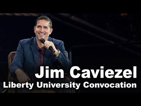 Jim Caviezel  Liberty University Convocation