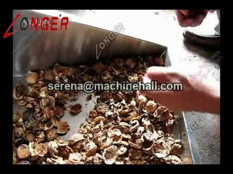 Walnut Shell Cracking Machine|Walnut Shell Remover Machine|Walnut Shell Husking Machine