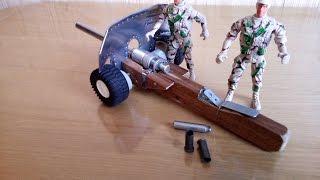 Як зробити стріляє гармату. Вогнепальна гармата для гри в солдатики.