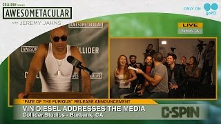 Vin Diesel Press Conference - Awesometacular with Jeremy Jahns on Go90