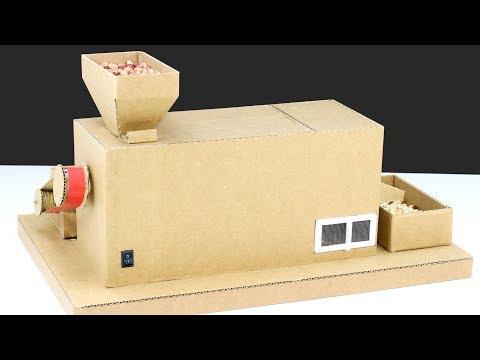 How To Make Mini Peanut Grinder Machine From Cardboard! DIY Nuts Machine