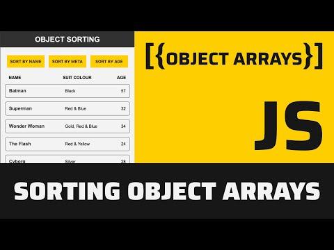 Sorting Object Arrays in JavaScript thumbnail
