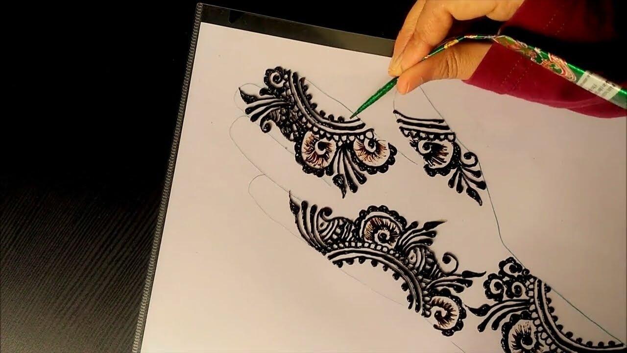 ad6c73de1 Mehndi Henna Design- Pattern for forearm - YouTube