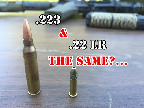 .223 and  22 LR... Both 22's?
