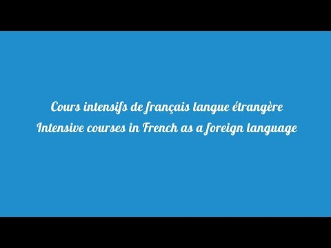 Intensive Courses In French As A Foreign Language - Summer Schools