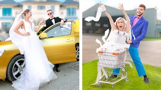 Rich Bride vs Broke Bride / Funny and Awkward Moments