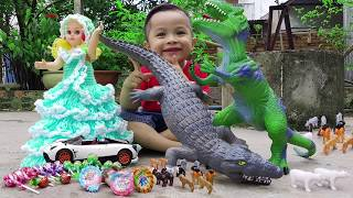 Trò Chơi Khủng Long Cá Sấu Săn kẹo ❤ ChiChi ToysReview TV ❤ Đồ Chơi Trẻ Em