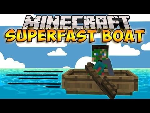 Minecraft | Fastest Ways To Travel - Superfast Boat Glitch! (Minecraft 1.9 Glitch)