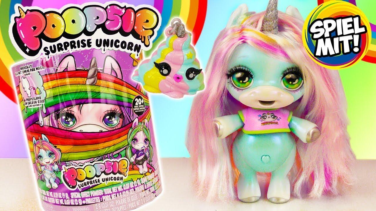 Surprise Unicorn Sparkly Critters Einhorn Schleim Kacke Einhornschleim Poopsie