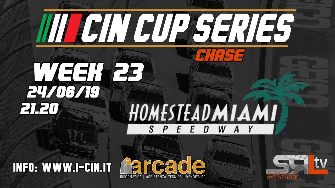 iRacing | Campionato Italiano Nascar 2018-2019 | Week 23 | Homestead Miami  Speedway