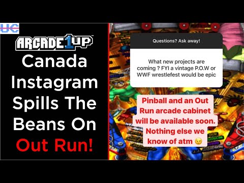 It's Official! Out Run Cabinet from Arcade1up Confirmed by Their Canadian Instagram Account from Unqualified Critics