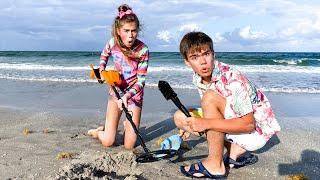 Настя и Мия - сборник новых серий про путешествие на пляж