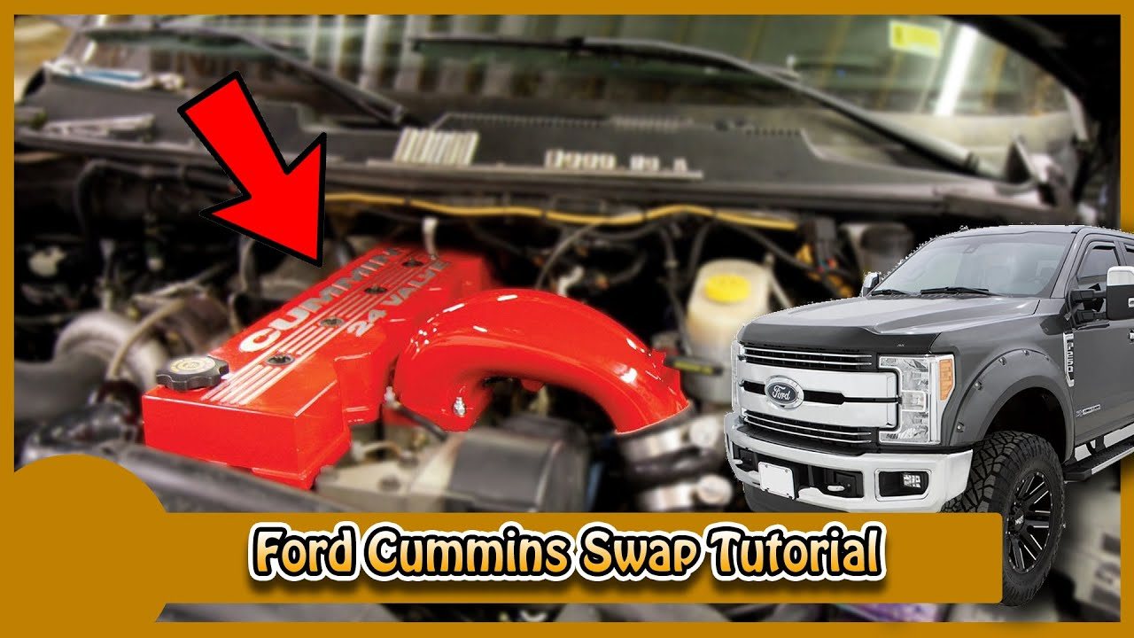 ford cummins swap 6 4l to 5 9 24 valve instructions