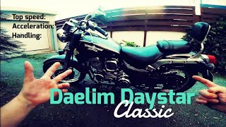 Daelim Daystar classic 125/250 top speed, acceleration, sound, review
