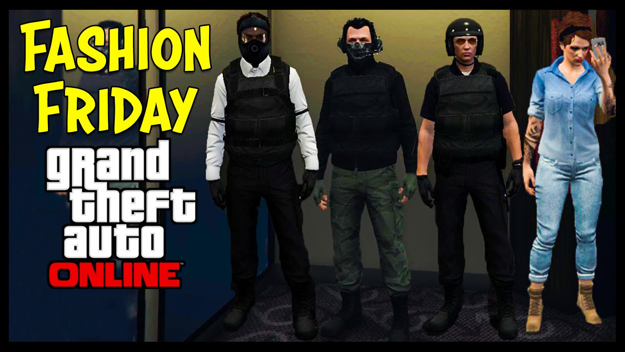 GTA 5 Online FASHION FRIDAY! (The Russian Summit Soldier Highway Patrol u0026 MORE) - YouTube