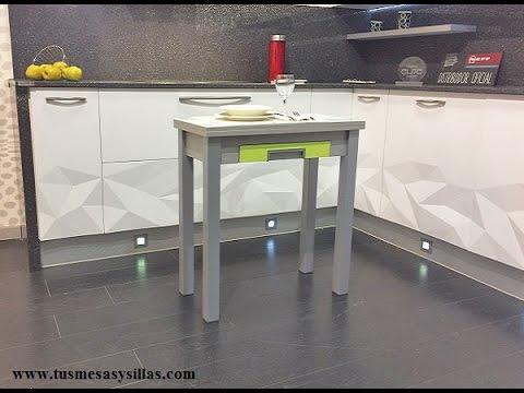 Mesa peque a y estrecha cocina armesi youtube - Mesa cocina pequena ...