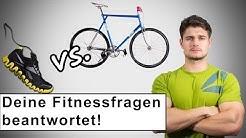 Was ist besser Laufen oder Fahrrad fahren? - Vor dem Kraftsport Boxen - Gut oder Schlecht?
