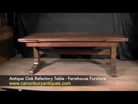 Antique Oak Refectory Table - Farmhouse Furniture