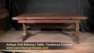 Antique Oak Refectory Table - Farmhouse Furniture