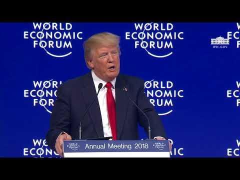 BREAKING Trump Addresses NWO Globalist Elites @ World Economic Forum in Switzerland January 26 2018
