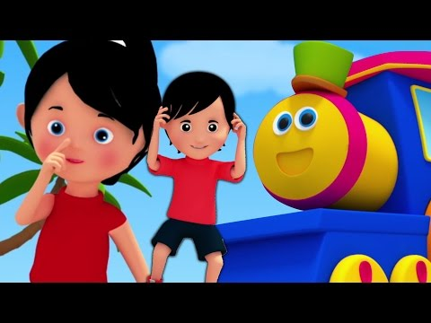 tête épaules genoux et orteils | Bob le train | Enfants rimes | Body Parts Song | Head Shoulders