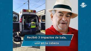 Juan Jaramillo Frikas recibió tres impactos de arma de fuego en el rostro, abdomen y hombro por sujetos que lo abordaron cuando se encontraba en el interior de su camioneta; el gobierno de Morelos lamentó y condenó el ataque