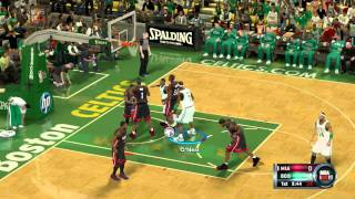 NBA 2K12 PC Gameplay - Miami Heat VS Boston Celtics (maxed out settings)