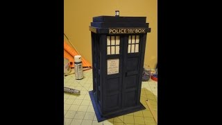 Making A Balsa Wood Tardis