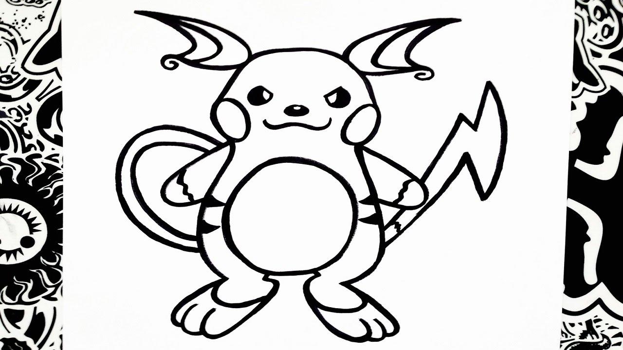 Como Dibujar A Raichu How To Draw Raichu Pokemon